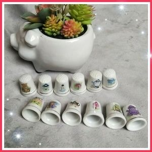 Other - Genuine porcelain thimbles with 24k gold trim